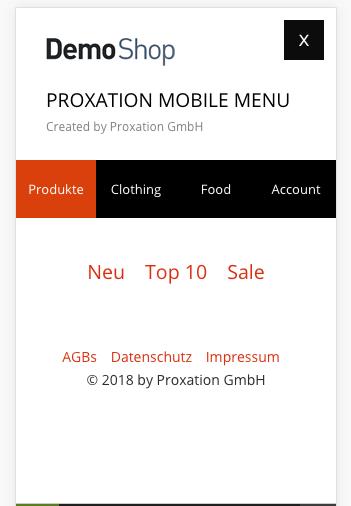 Mobile Menu Premium